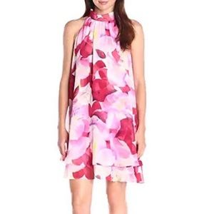 Eliza J Pink Floral Sleeveless Dress sz 16